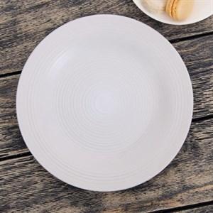 "Тарелка ""Кантри"" белая диаметр 22 см"