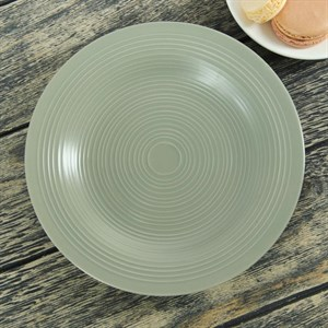 """Тарелка """"Кантри"""" зеленая диаметр 22 см"""