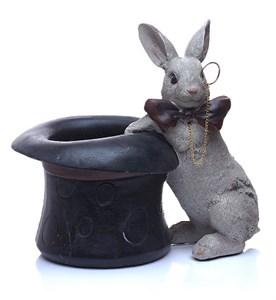 """Статуэтка """"Кролик в шляпе"""" высота 19 см"""