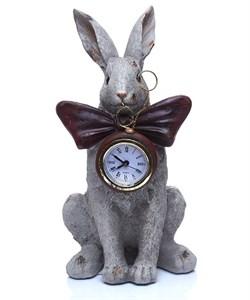 """Статуэтка-часы """"Кролик с бантом"""" высота 24 см"""