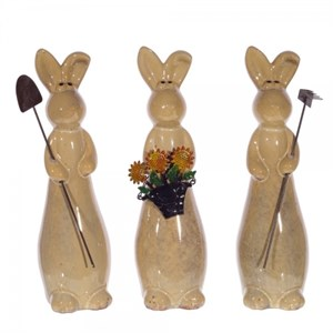 """Статуэтка """"Кролик-садовод"""" в ассортименте, цена за 1 шт"""