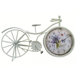 """Часы настольные """"Велосипед с лавандой"""""""