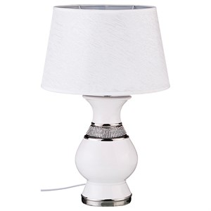 """Лампа настольная """"Белая ваза"""" высота 48 см"""