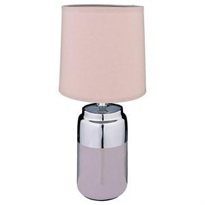 Лампа настольная серая высота 36 см