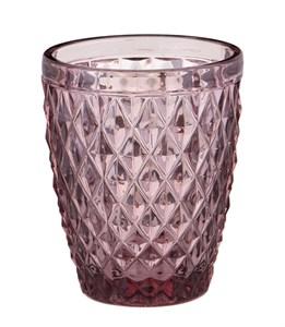 """Стакан """"Венеция"""" розовый 250 мл из цветного стекла"""