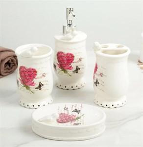 """Набор для ванной комнаты """"Цветочное сердце"""""""