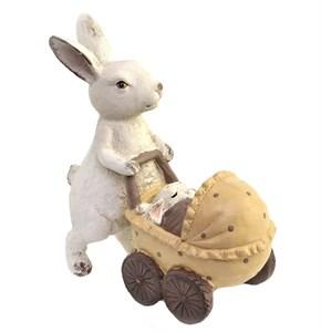 """Статуэтка """"Заяц с коляской"""""""