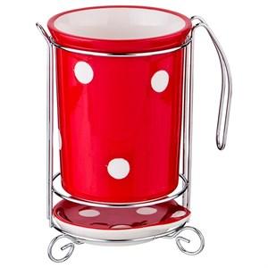 """Подставка для кухонных приборов """"Красный горох"""""""