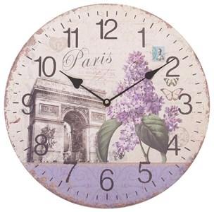 "Часы настенные ""Сирень Парижа"""