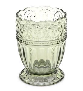 """Стакан """"Кружево"""" оливковый 250 мл из цветного стекла"""