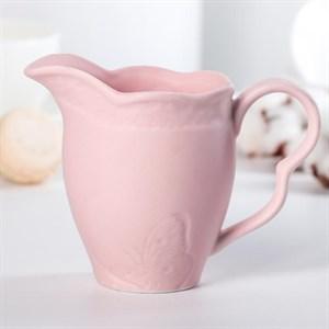 """Молочник """"Бабочка"""" 300 мл розовый"""