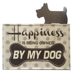 """Табличка металлическая """"Счастье иметь собаку"""""""