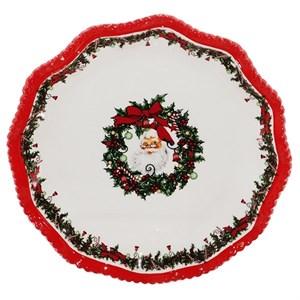 """Блюдо """"Дед Мороз"""" диаметр 30 см (уценка)"""
