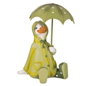 """Статуэтка """"Утка под зонтом"""" сидящая"""