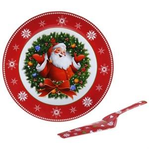 """Блюдо сервировочное """"Новогоднее"""" с лопаткой"""
