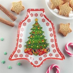 """Блюдо стеклянное """"Новогодняя елка"""""""