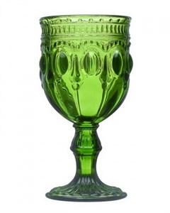 """Бокал """"Самоцвет"""" зеленый 280 мл из цветного стекла"""
