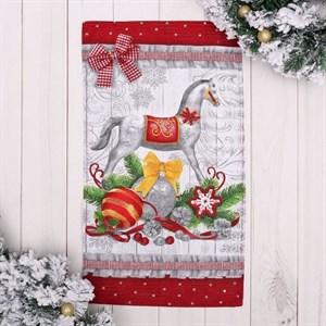 """Полотенце """"Новогодняя лошадка"""" 35х60 см"""