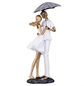 """Статуэтка """"Влюбленные под зонтом"""" высота 35 см"""