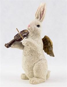 """Статуэтка """"Кролик со скрипкой"""" высота 21 см"""