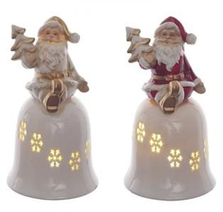 """Статуэтка """"Колокольчик с Дедом Морозом"""" с подсветкой, цена за 1 шт"""