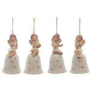 """Елочная игрушка """"Колокольчик с ангелом"""", цена за 1 шт"""