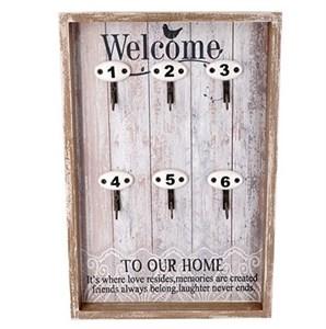 """Ключница """"Добро пожаловать в наш дом"""""""