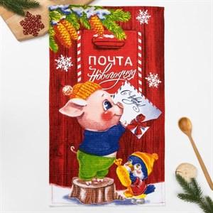 """Полотенце кухонное """"Новогоднее послание"""" 35х60 см"""