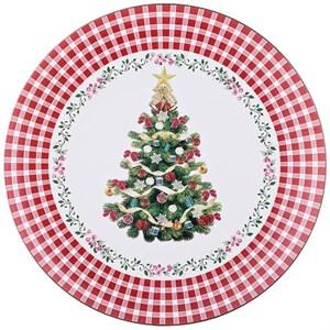 """Поднос """"Новогодняя елка"""" диаметр 33 см"""