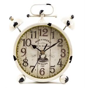 Часы настольные белые состаренные
