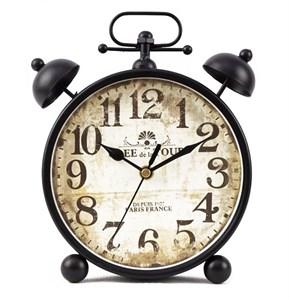 Часы настольные черные состаренные