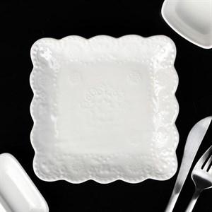 "Блюдо квадратное ""Кружево"" 15х15 см"