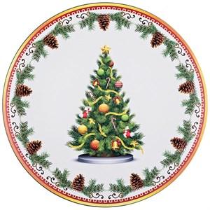 """Поднос """"Новогодняя елка"""" диаметр 40 см"""