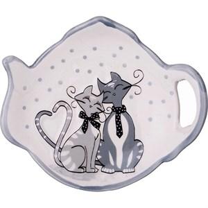 """Подставка для чайных пакетиков """"Влюбленные кошечки"""""""