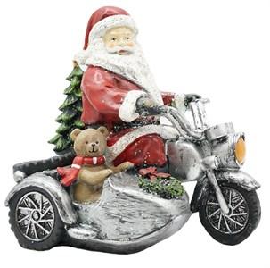 """Статуэтка """"Дед Мороз на мотоцикле"""""""