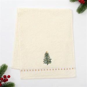 """Полотенце махровое """"Новогодняя елка"""" 30х70см в подарочной упаковке"""