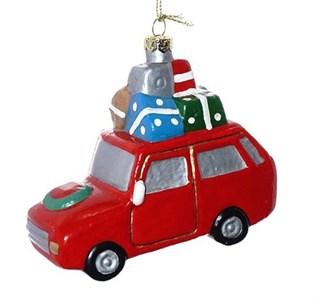"Елочная игрушка ""Машина с подарками"""