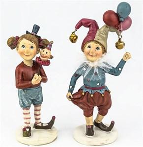 """Набор статуэток """"Дети-клоуны"""""""