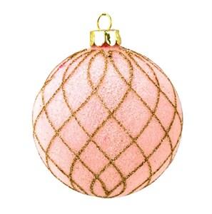 """Елочная игрушка """"Розовый шар"""""""