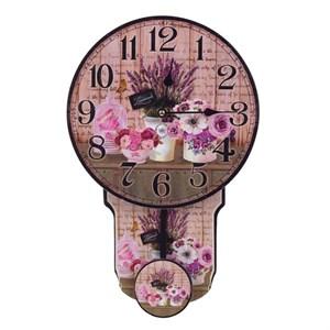 """Часы с маятником """"Лавандовый натюрморт"""""""