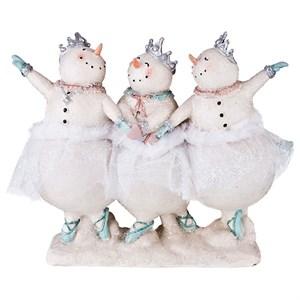 """Статуэтка """"Три снеговика"""" высота 18 см"""