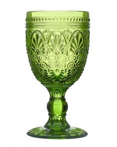 """Бокал """"Испания"""" 210 мл зеленый из цветного стекла"""