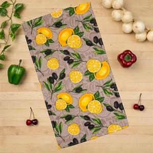 "Полотенце вафельное ""Лимоны"" 35х60 см"