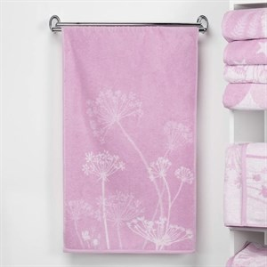 """Полотенце махровое """"Полевые цветы"""" 50х90 см розовое"""
