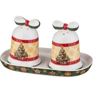 """Набор для специй """"Новогодний"""" на подставке в подарочной упаковке"""