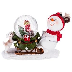 "Статуэтка ""Снеговик с подарками"""
