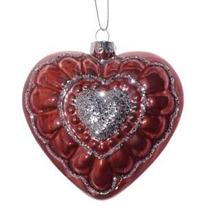 """Елочная игрушка """"Красное сердце"""""""