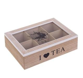 """Шкатулка для чайных пакетиков """"Я люблю чай"""""""