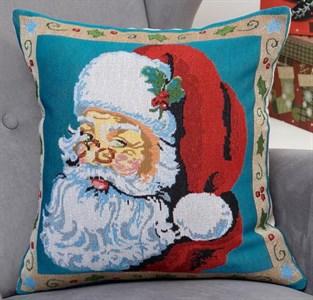 """Наволочка из гобелена """"Дед Мороз"""" 43*43 см"""