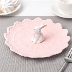 """Блюдо-подставка """"Кролик"""" 21 см, цвета в ассортименте"""